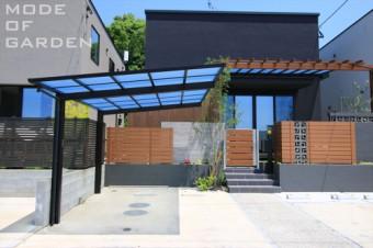 カーポート ウッドフェンス デザインブロック テラス屋根 A-63 (24)
